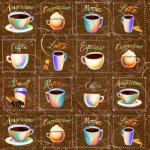 BLANK TEXTILES - Brewed Awakenings - Coffee Names and Cups