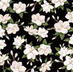 BLANK TEXTILES - Magnolia Mania - Large Magnolia - Black