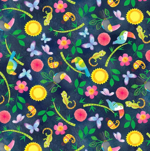 BLANK TEXTILES - Tropical Zone - Mixed Tropical Motifs