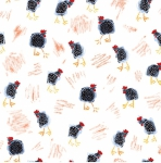 BLANK TEXTILES - Udder Chaos - Tossed Chickens White