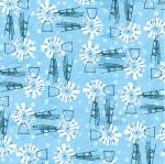 BLANK TEXTILES - Udder Chaos - Windmills Blue