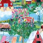 BLANK TEXTILES - Udder Chaos - Farm Scenic Blue