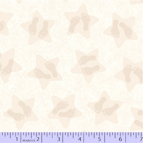 MARCUS BROTHERS - Songbook Flannel Little Star - Beige Little Feet Stars