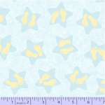 MARCUS BROTHERS - Songbook Flannel Little Star - Blue Stars Yellow Little Feet