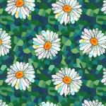BLANK TEXTILES - Unicorn-Ocopia Digital - Daisies Green