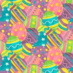 BLANK TEXTILES - Spring Jubilee - Easter Eggs - Pink
