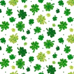 BLANK TEXTILES - Spring Jubilee - Tossed Clovers - White