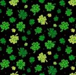 BLANK TEXTILES - Spring Jubilee - Tossed Clovers - Black