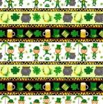 BLANK TEXTILES - Spring Jubilee - Stripe - Green