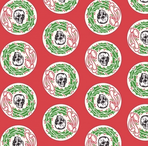 ANDOVER - Chillingsworth Christmas - Skull & Wreath - SB378