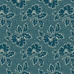 ANDOVER - Secret Stash - Cool Tones by Laundry Basket Quilts - Silhouette Floral - Tea Blue