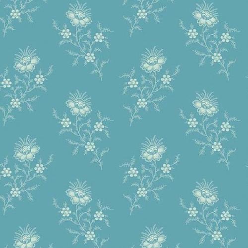 ANDOVER - Royal Blue by Laundry Basket - Chrysanthemum - Carolina