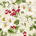 ANDOVER - Winter Rose - Floral - Cream