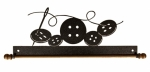 12 in Buttons Fabric Holder Charcoal
