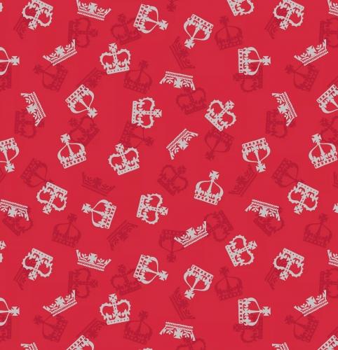LEWIS & IRENE - Britannia - Metallic Silver Crowns Red
