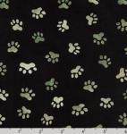 KAUFMAN - Whiskers & Tails Digital Print - Black