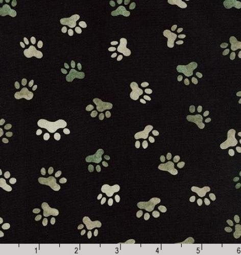 KAUFMAN - Whiskers & Tails Digital Print - Black