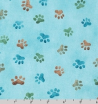 KAUFMAN - Whiskers & Tails Digital Print - Dusty Blue