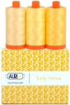 Aurifil - Sicily Yellow Color Builder 3 pcs