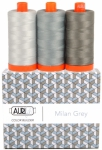 Aurifil - Milan Grey Color Builder 3 pcs