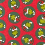 KAUFMAN - Grinch Tossed Flannel - Holiday
