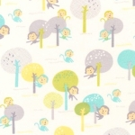 KAUFMAN - Monkey Hangout - Garden - FLANNEL