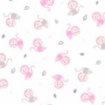 KAUFMAN - Monkey Hangout - Pink - FLANNEL