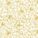 KAUFMAN - Bella Mariposa - Ivory - Metallic