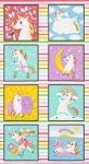 KAUFMAN - Magical Rainbow Unicorns Image Panel - PL270-