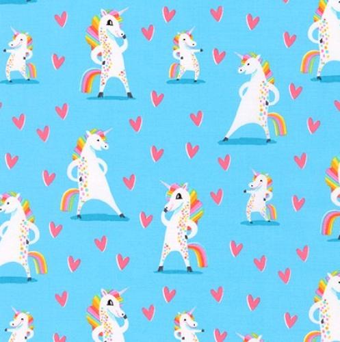 KAUFMAN - Magical Rainbow Unicorns - Sky - Unicorns