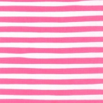 KAUFMAN - Magical Rainbow Unicorns - Pink - Pink & White Stripe