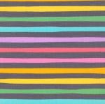 KAUFMAN - Magical Rainbow Unicorns - Charcoal - Charcoal & Rainbow Stripe - #4168-