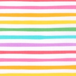 KAUFMAN - Magical Rainbow Unicorns - Rainbow - Rainbow & White Stripe - #4170-