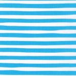 KAUFMAN - Magical Rainbow Unicorns - Blue - Aqua & White Stripe - #4169-