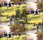 DAVID TEXTILES - Animal Tradition - Cows at the River