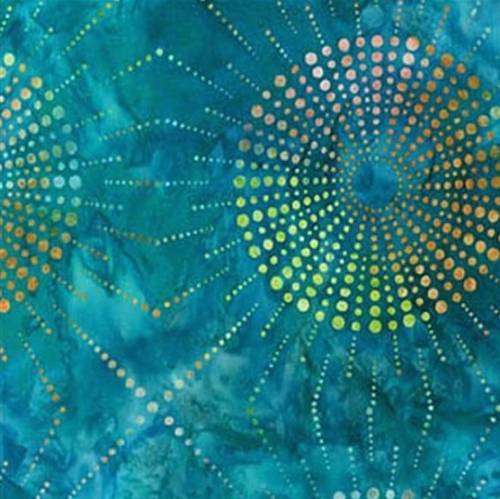 KAUFMAN - Elementals: Dots 'N Spots - Teal - K80028-