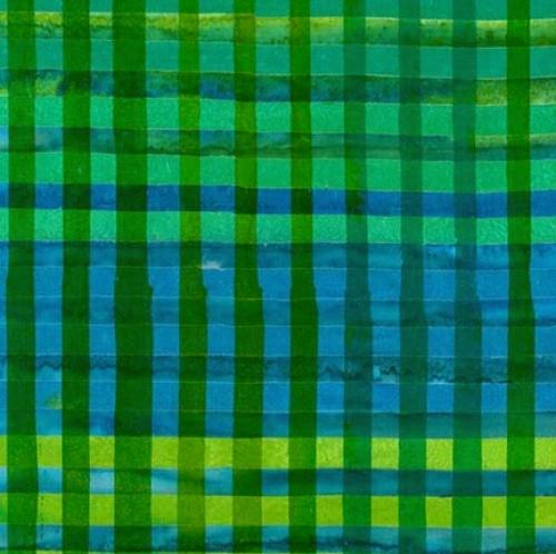 KAUFMAN - Hand Painted Gingham - Green - K75041-