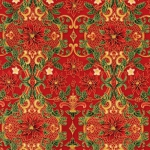 KAUFMAN - Holiday Flourish  Metallic 12 - Red
