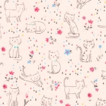 KAUFMAN - Whiskers & Tails - Pink - FB7911-