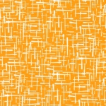KAUFMAN - Violet Craft Modern Classics - School Bus - Orange With Dashes