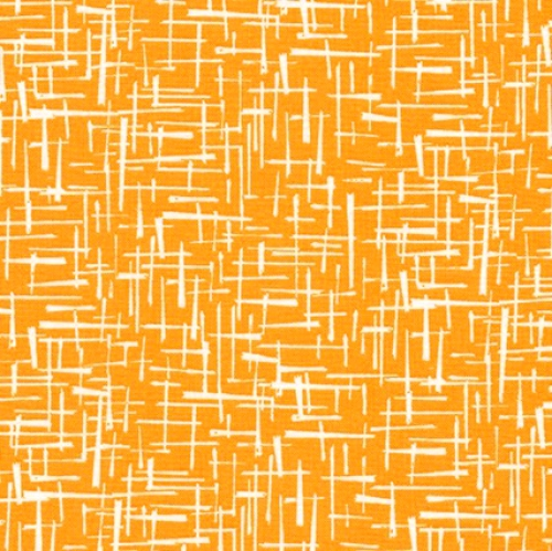 KAUFMAN - Violet Craft Modern Classics - School Bus - Orange With Dashes - #3102-