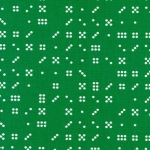 KAUFMAN - Violet Craft Modern Classics - Clover - Green With Dots