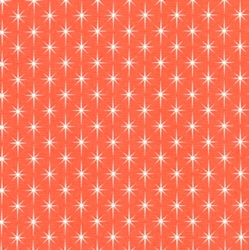 KAUFMAN - Violet Craft Modern Classics - Orange - #3106-ade - Orange With Stars