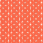 KAUFMAN - Violet Craft Modern Classics - Orangeade - Orange With Stars