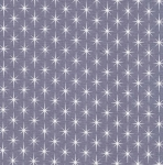 KAUFMAN - Violet Craft Modern Classics - Slate - Gray With Stars