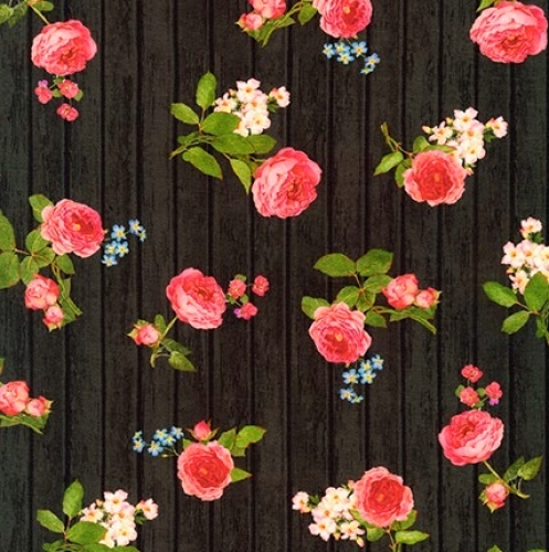 KAUFMAN - Farmhouse Rose - Black