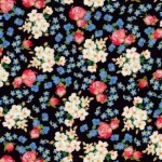KAUFMAN - Farmhouse Rose - Small Floral Black