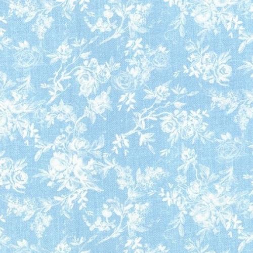 KAUFMAN - Farmhouse Rose - Blue - #2702-