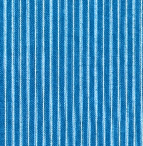 KAUFMAN - Farmhouse Rose - Blue Stripe