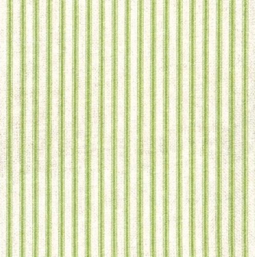 KAUFMAN - Farmhouse Rose - Green Stripe - #2700-